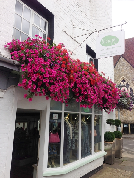 The English have perfected the art of hanging baskets and window boxes!