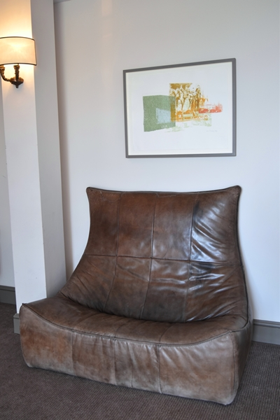 Very stylish leather chair or is it a sofa?!