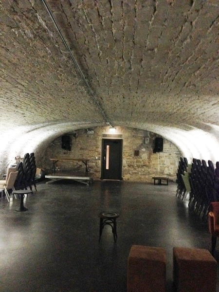 Down in the cellar there are some fantastic rooms for private parties.
