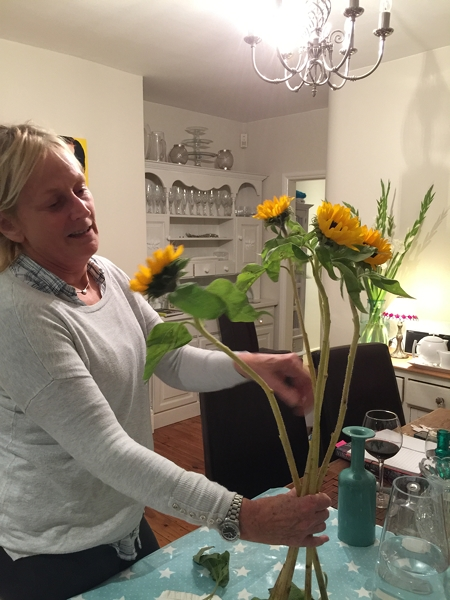 Decorating living spaces with grey angela bunt creative for Angela florist decoration