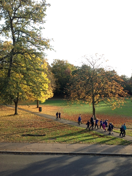 School children walking through the Common with their teachers. I wonder if they even notice the beauty of their surroundings?!