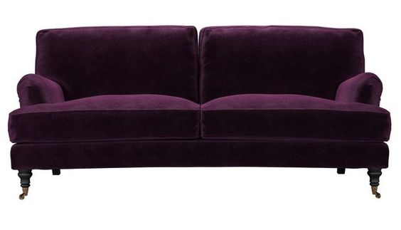 Sofa.com's Bluebell Sofa in Plum velvet