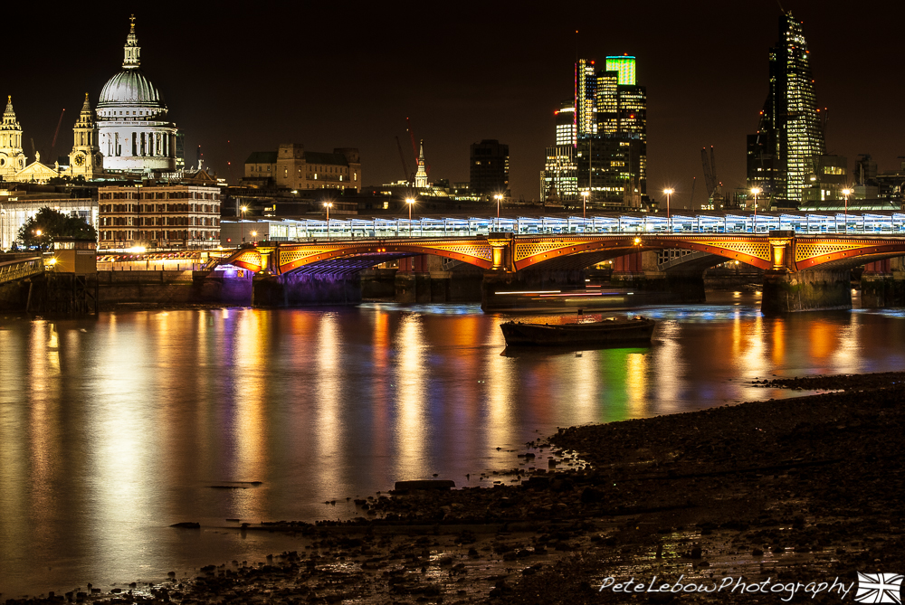 S Pauls and Blackfriars Bridge with Tower 41 and the Cheese Grater Building
