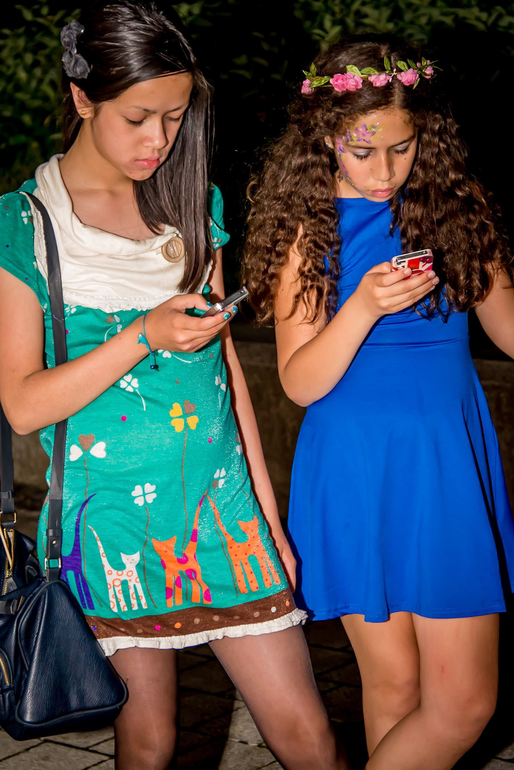 Teenagers phone-agers.