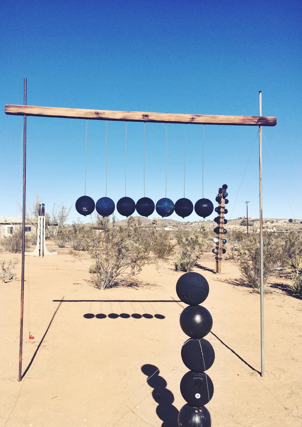 Noah Purifoy's amateur plein air bowling league