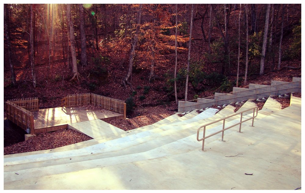 The Amphitheater  - Located on a wooded hillside behind the Chapel, the Amphitheater is designed for outdoor worship and concerts, as well as other activities. Max. Capacity: 200+Rental Cost: $375