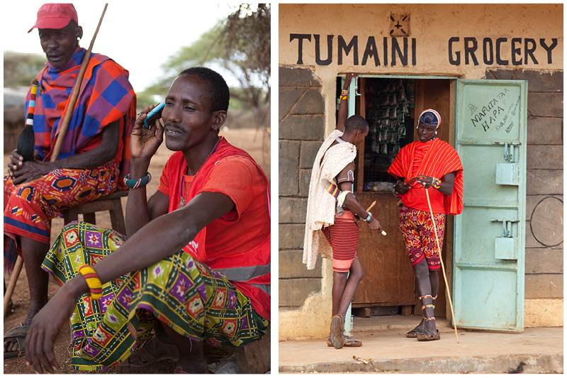 Although many Samburu men are embracing aspects of modernity such as cell phones, Facebook and cell phone banking, the traditions surrounding female circumcision and child marriage are ancient and will take many years to change.