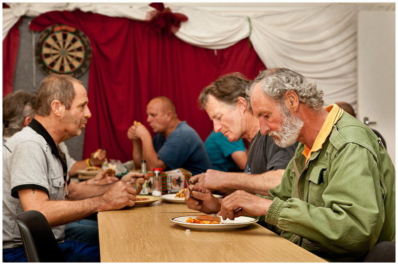 Meal times are a time to relax, unwind and connect with the other residents.