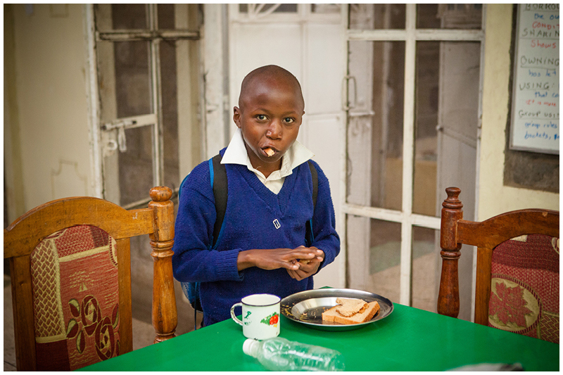 Boys will be boys! The most important way to start a school day is with a full tummy - a necessity that many children go to school without.