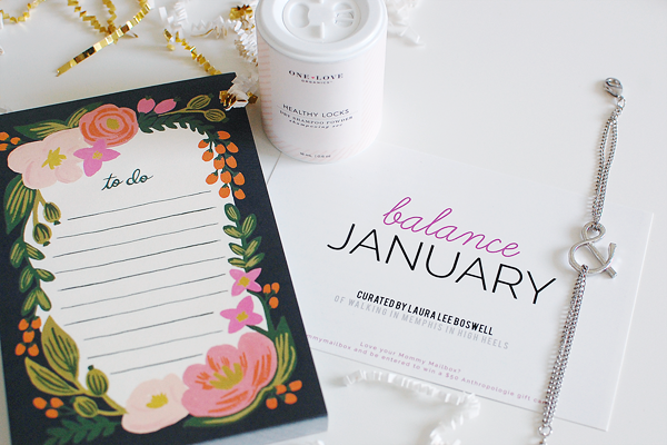 A peek at the January Mommy Mailbox