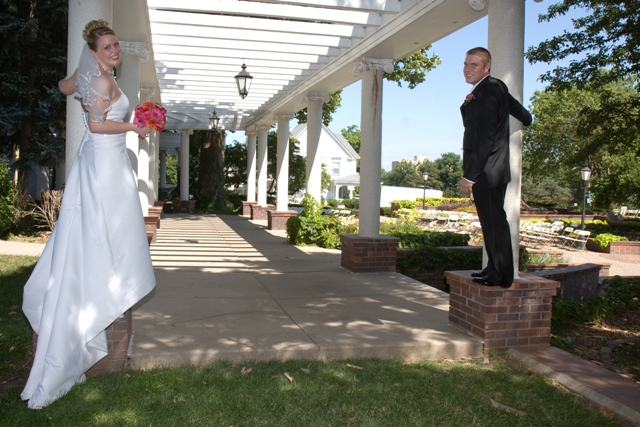 My husband Matt and I on our wedding day in Omaha, Ne.