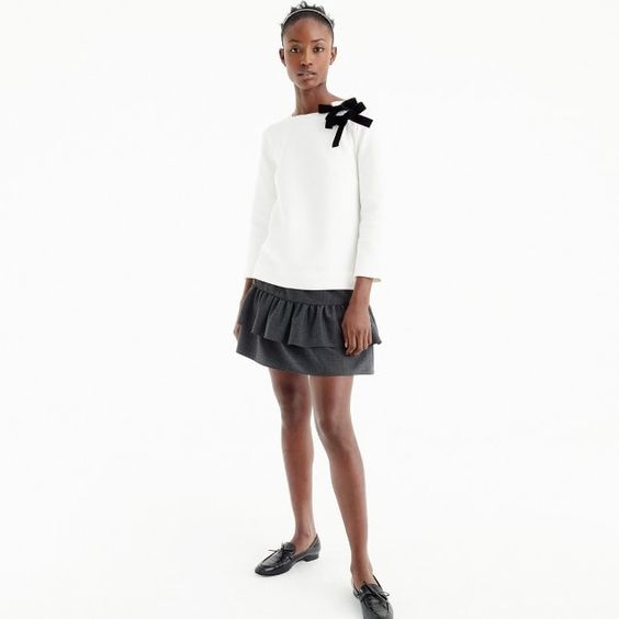 double bow sweatshirt from J.Crew