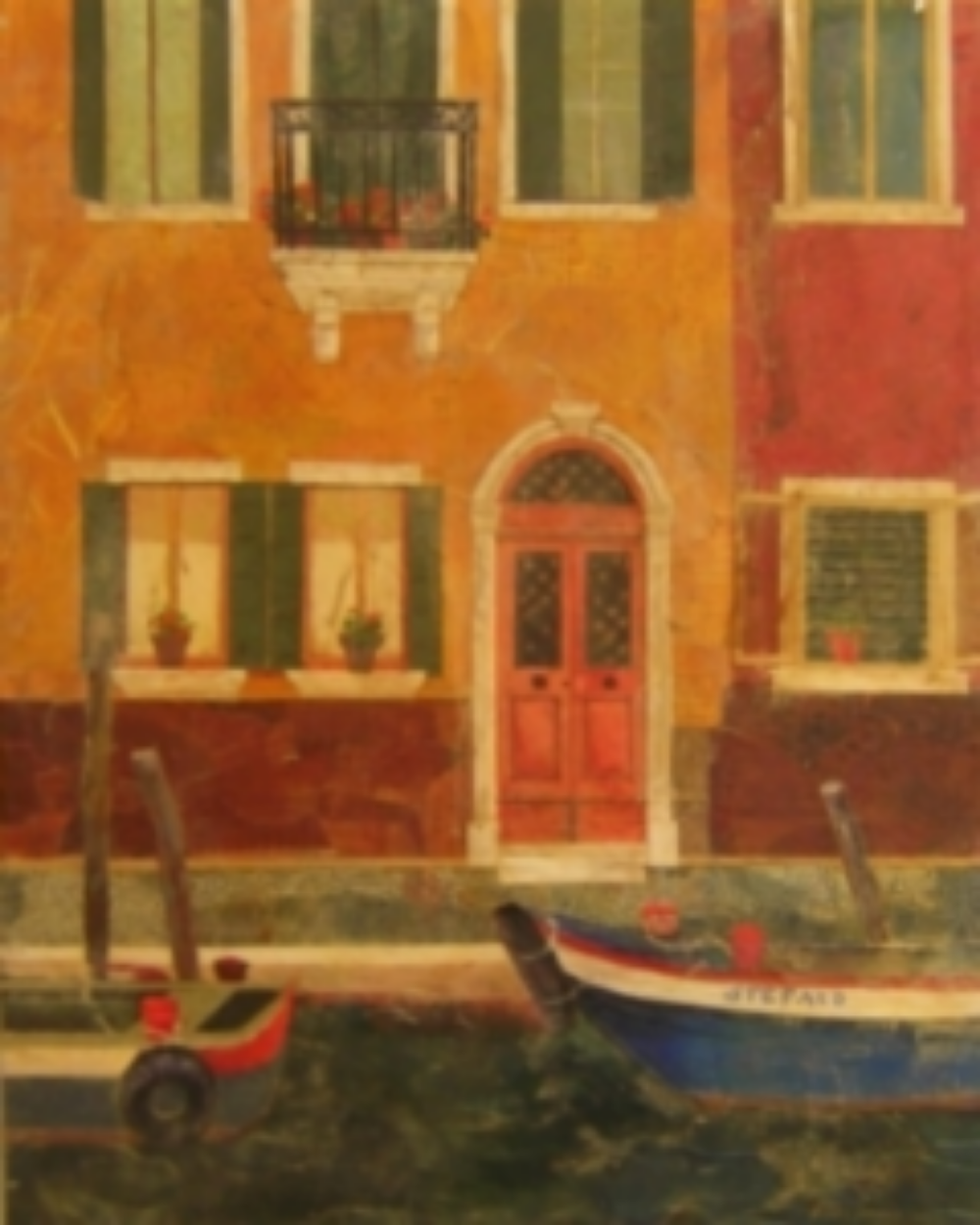"This is Burano where the houses are multi colored.    The price is $900    The size is 30"" x 40"""