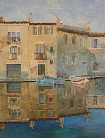 """Blue Venice - 15"""" x20"""" $1500"""