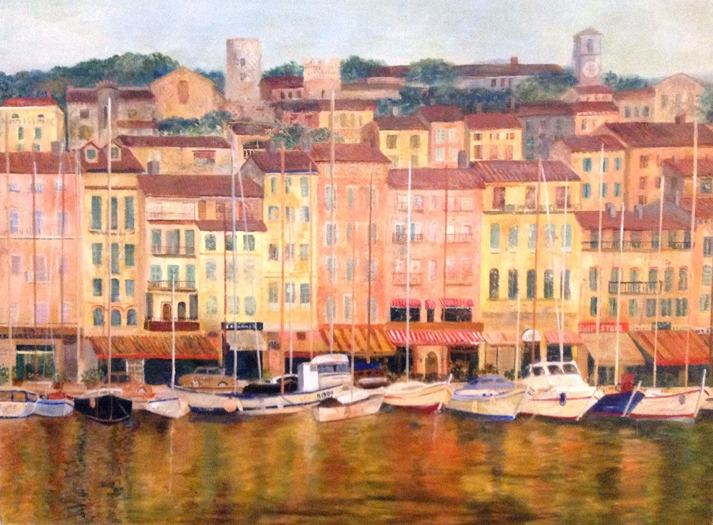 "Cote D'Azur   30"" x 40"" Acrylic on Canvas"