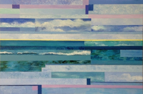 """Cape Cod Revisited - Sea and Sky - Acrylic - 24"""""""" x 36"""""""""""