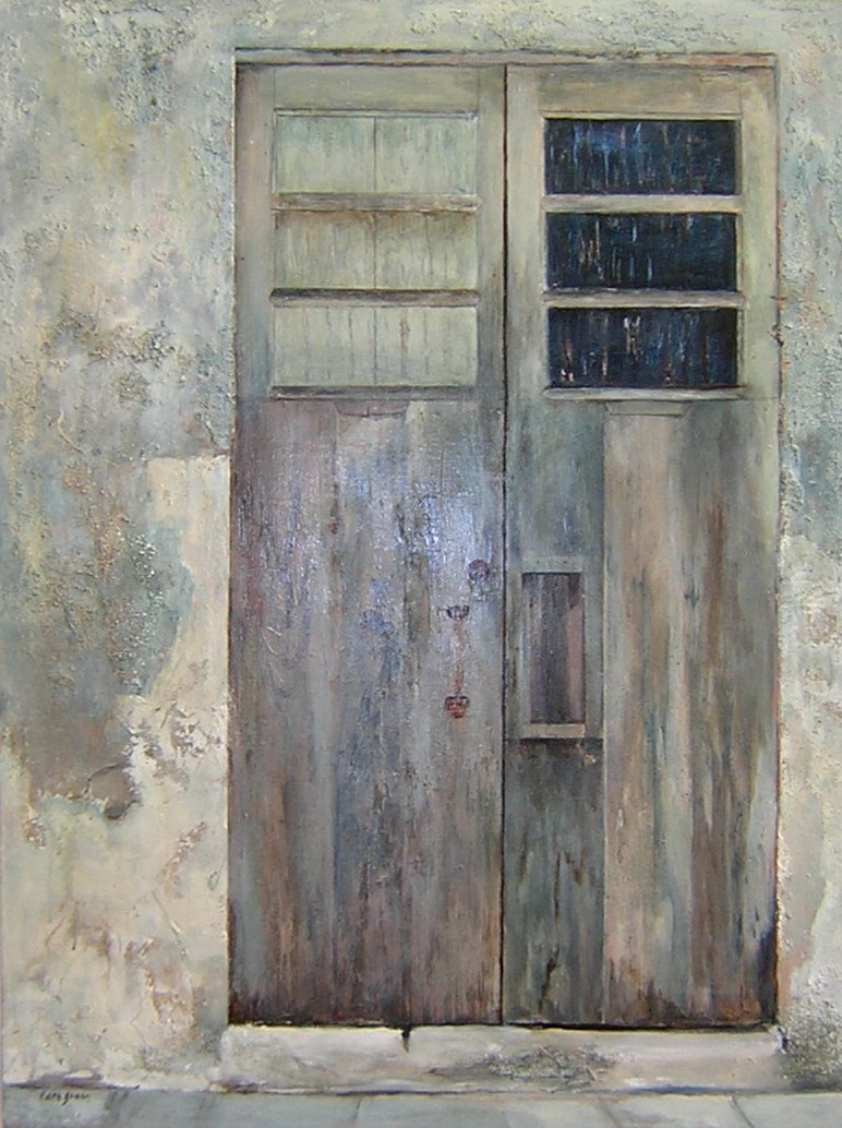 "MEXICAN DOORWAY   Mixed Media 30"" x 40"""