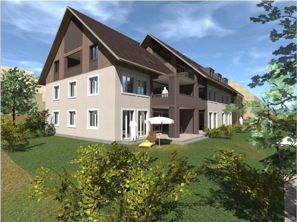 Im Mehrfamilienhaus sind neun Wohnungen von 2 1/2 bis 4 1/2 Zimmer zu vermieten. Grosszügige Grünflächen und hochwertige Materialien sorgen mit für eine überdurchschnittliche Wohnqualität.