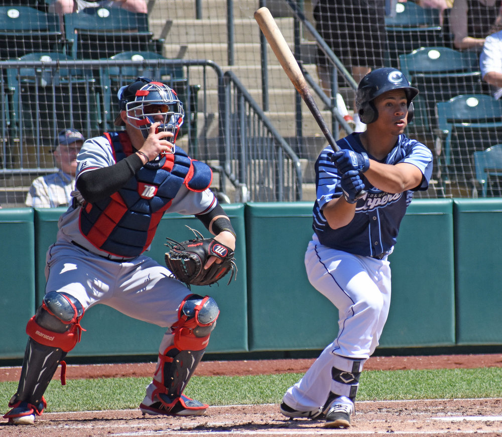 Francisco Mejia | Photo by Cat Wood/Columbus Clippers