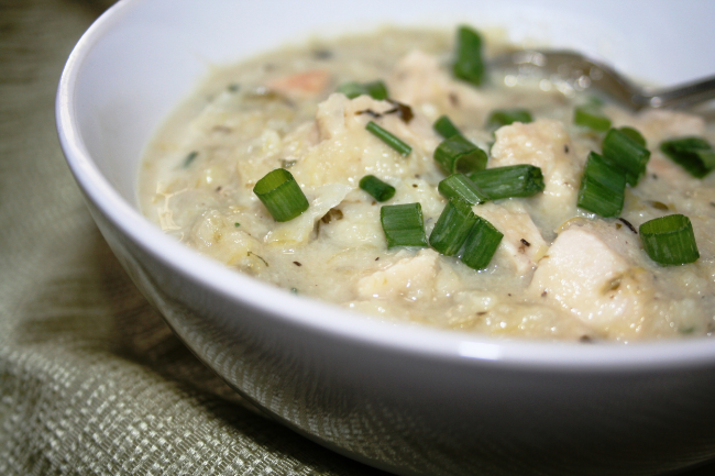 Creamy Cauli-Chicken Soup | Personally Paleo