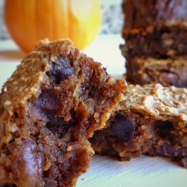 Pumpkin Pecan Brownies   Personally Paleo