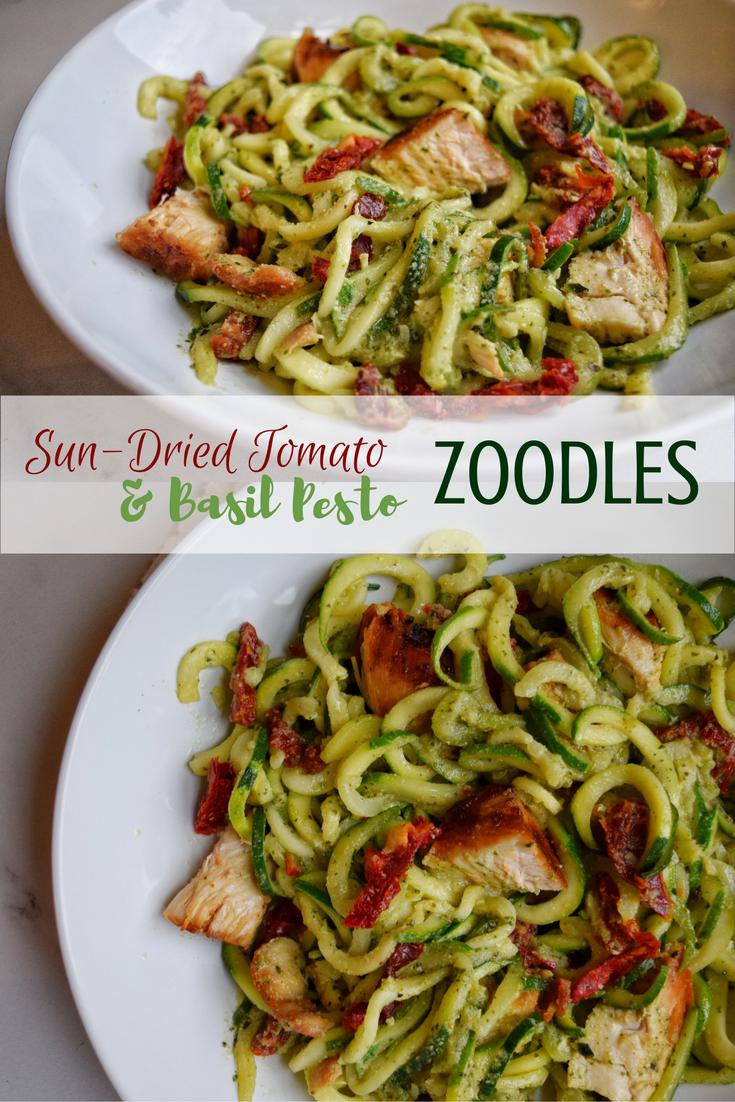 Sun-Dried Tomato & Basil Pesto Zoodles (Dairy Free, Paleo) | Personally Paleo