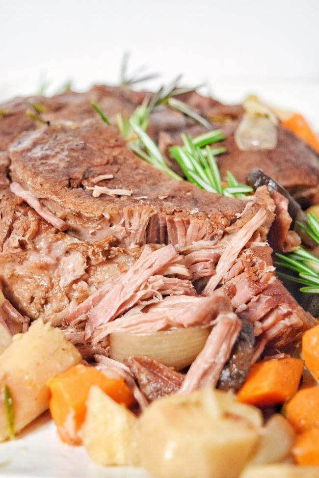 Slow Cooker Rosemary + Shallot Pot Roast (Paleo, Whole 30) | Personally Paleo