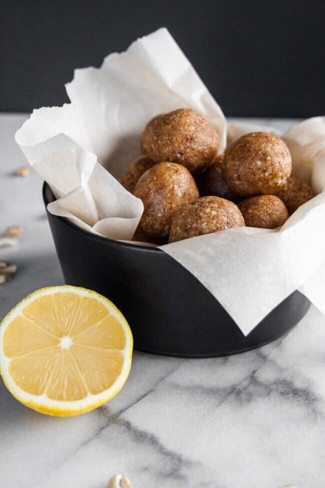 Homemade Lemon Larabar Bites (GF, Paleo, Vegan) | Hungry by Nature