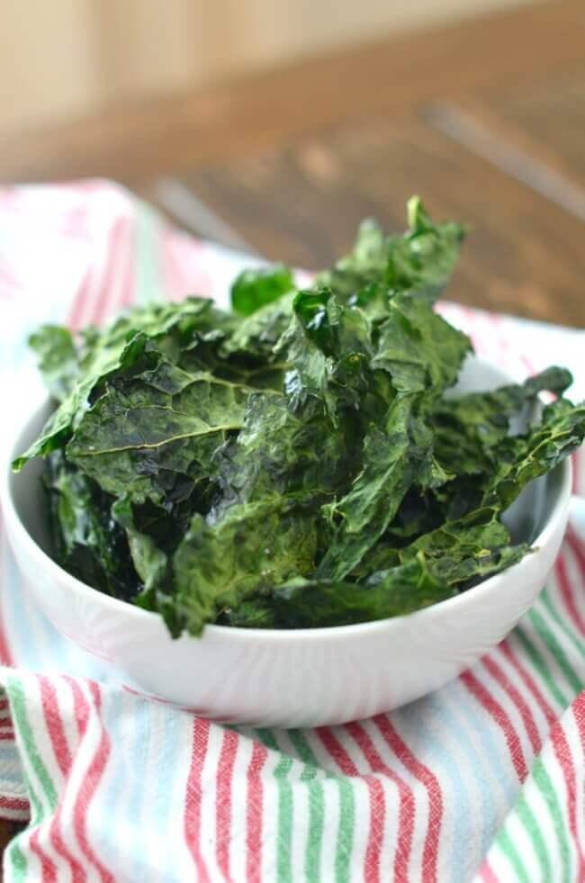 Crispy Oven Baked Kale Chips | 24 Carrot Kitchen