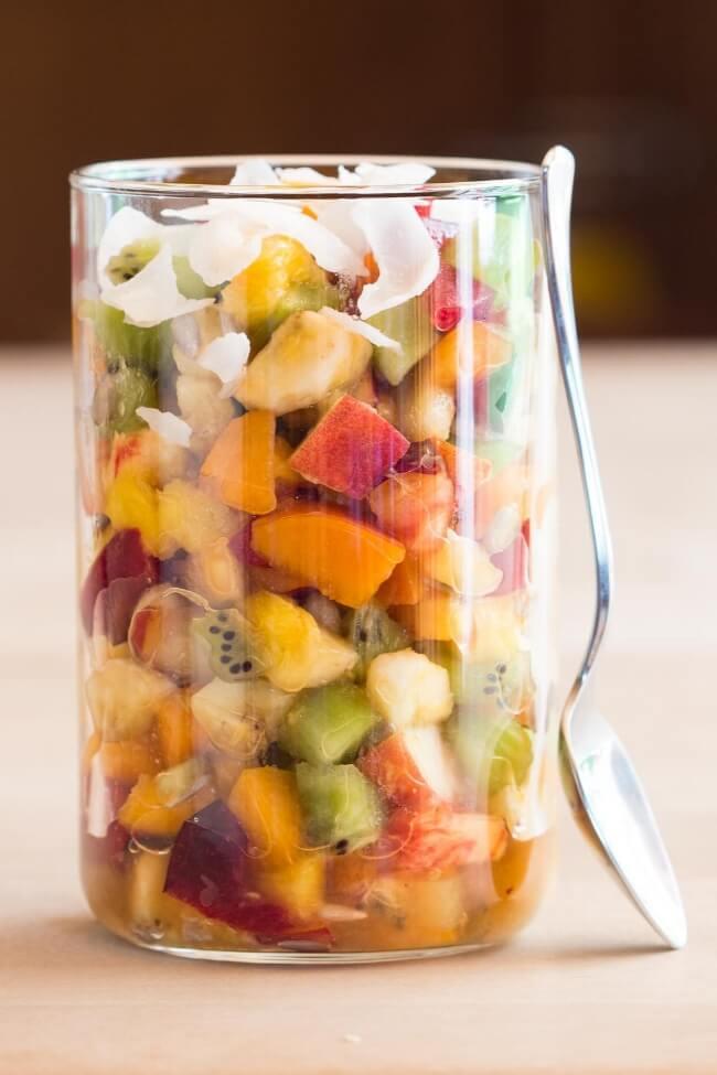 Take-to-Work Mango Fruit Salad | Green Healthy Cooking