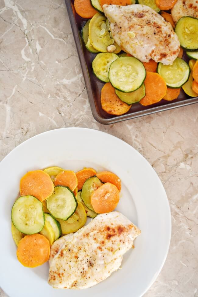 Whole30 Sheet Pan Roasted Chicken + Squash | Personally Paleo