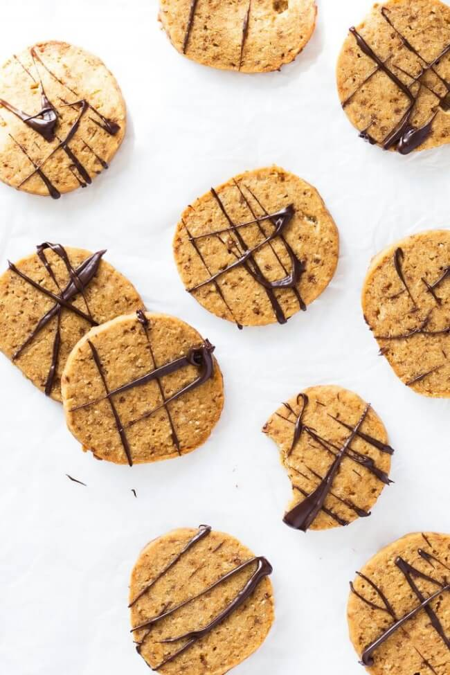 Coconut Flour Shortbread Cookies | Leelalicious
