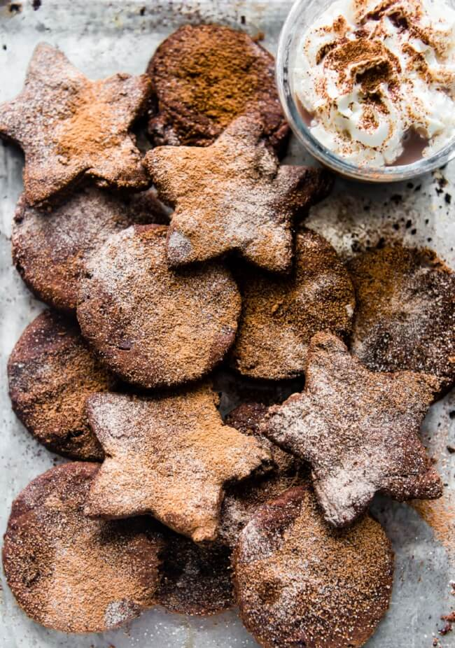 Mexican Hot Chocolate Sugar Cookies | Cotter Crunch