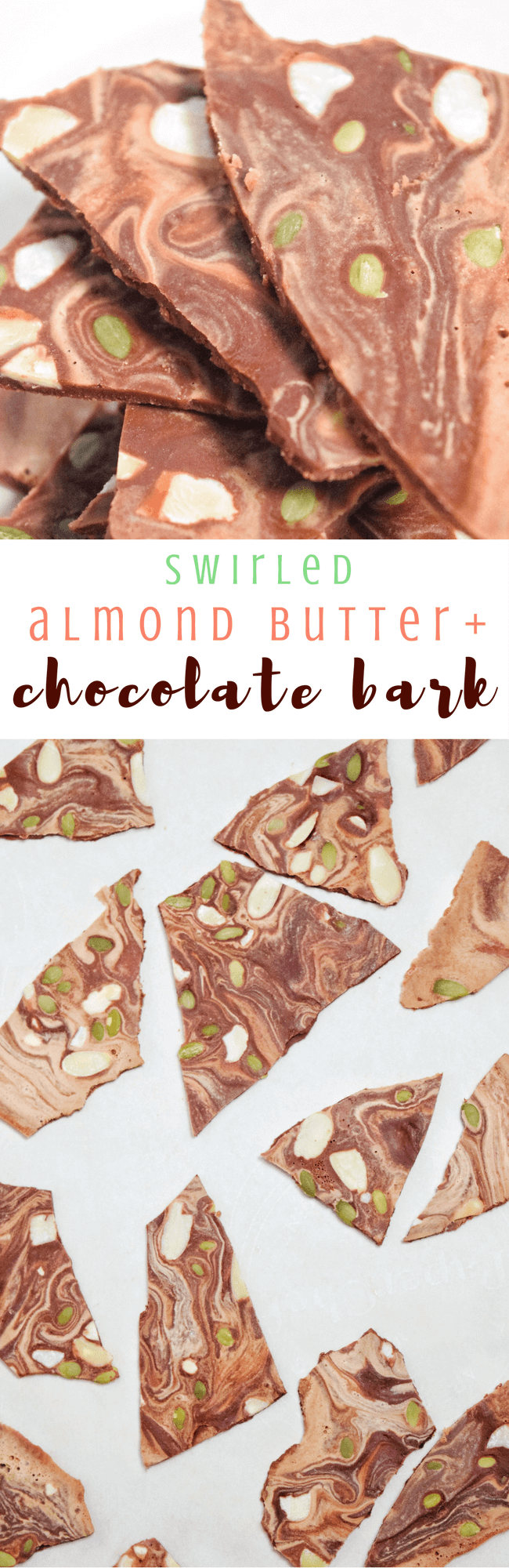 Swirled Almond Butter + Chocolate Bark | Personally Paleo