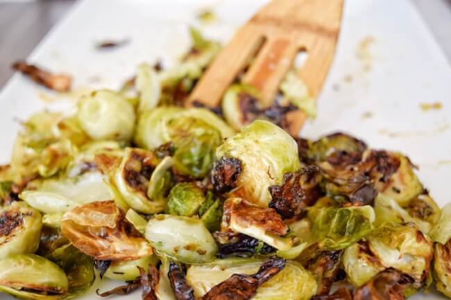 Sticky Sweet Glazed Brussels Sprouts (Refined Sugar Free) | Personally Paleo