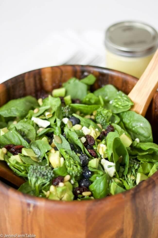 Broccolini & Blueberry Spinach Salad | Jenn's Farm Table
