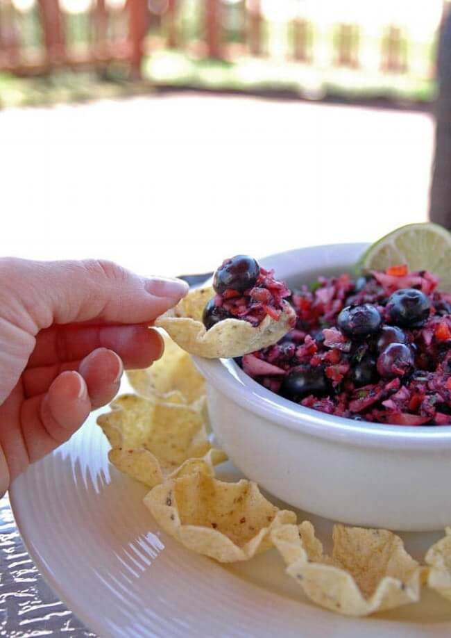 Red White and Blueberry Salsa | Cooking with Mamma C