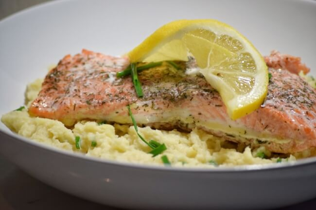 Lemon Dill Salmon + Creamy Chive Mashed Parsnips (AIP, Paleo) | Personally Paleo