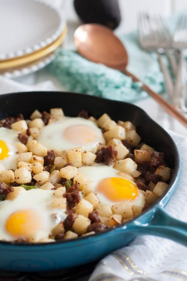 Low Carb Jicama Breakfast Skillet | Goodie Godmother