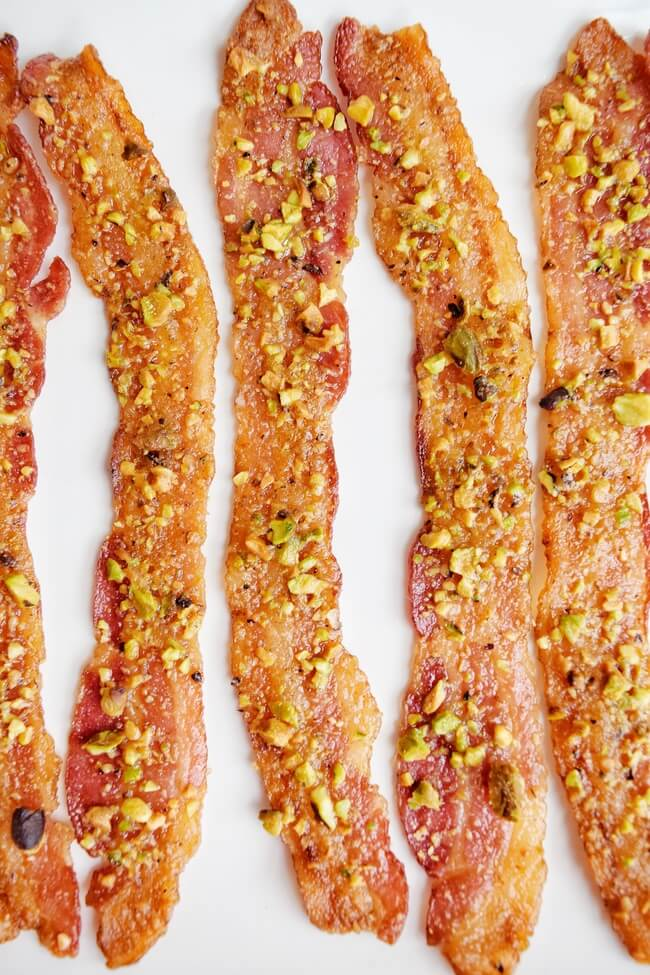 3 Ingredient Pistachio Candied Bacon (Paleo) | Personally Paleo