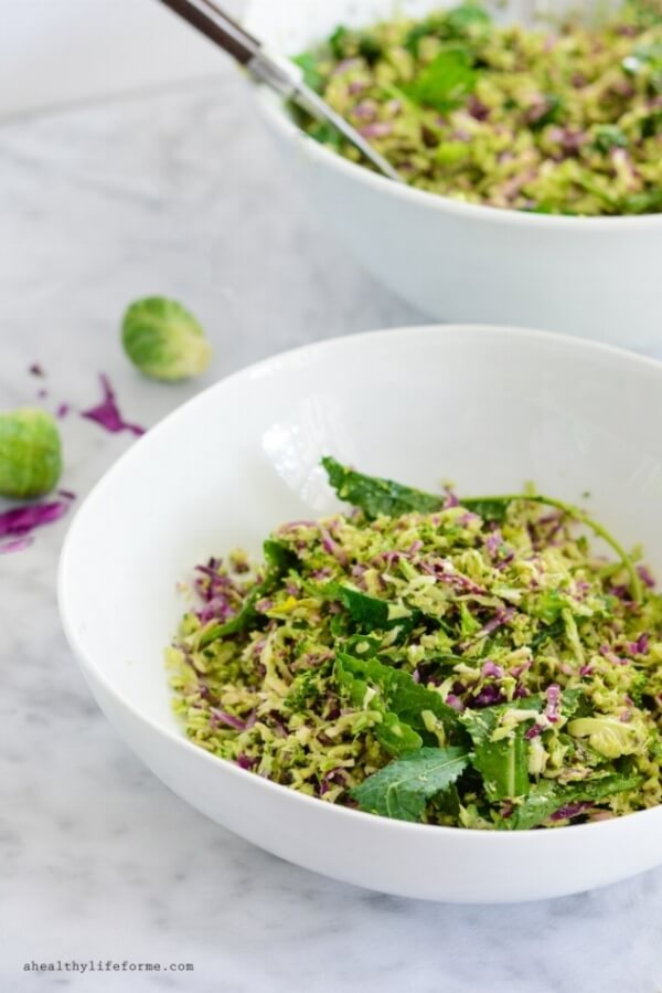 Kale Brussels Sprout Broccoli Salad | A Healthy Life for Me