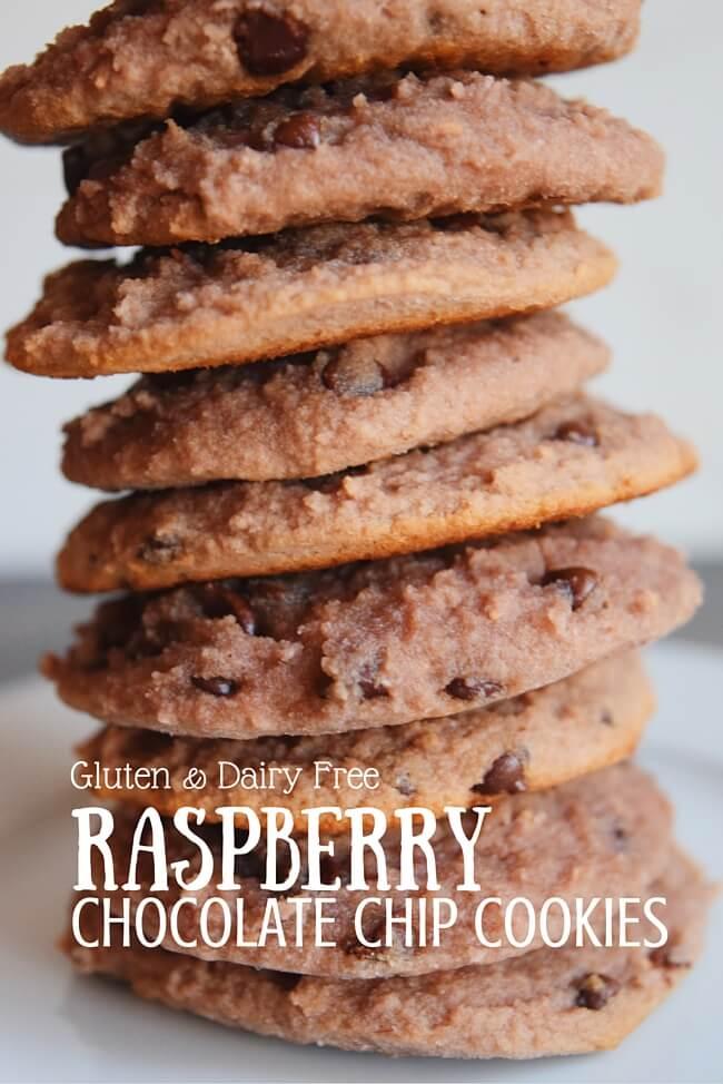 Grain Free Raspberry Chocolate Chip Cookies (Gluten Free, Dairy Free) | Personally Paleo