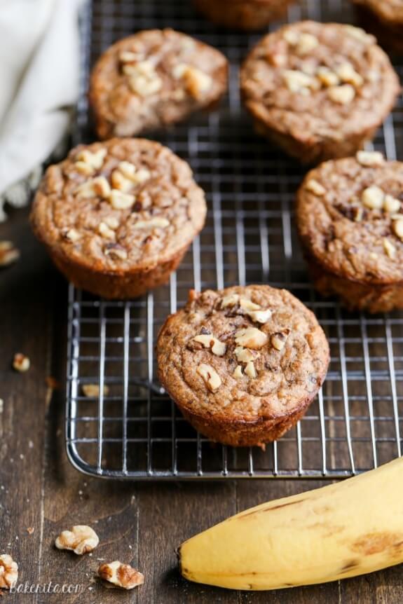 Paleo Banana Nut Muffins | Bakerita