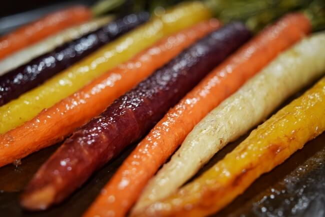Maple Ginger Glazed Rainbow Carrots (Refined Sugar Free) | Personally Paleo