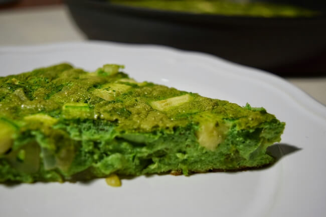 Green Veggie Frittata | Personally Paleo