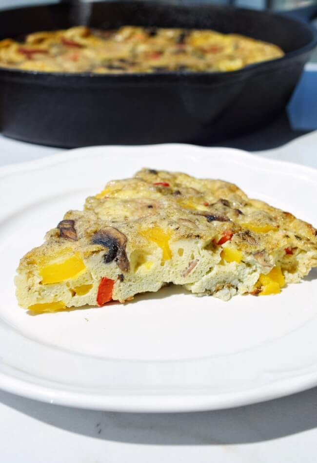 Low Carb Sweet Pepper Frittata