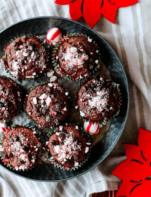 Dark Chocolate Peppermint Muffins | Cotter Crunch