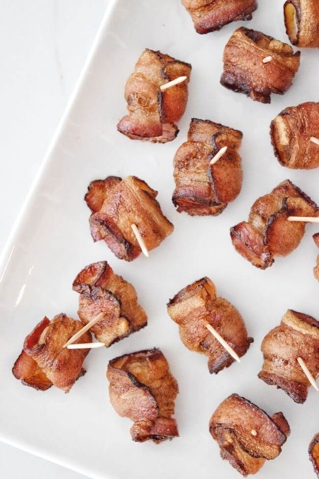 Soy Free Bacon Wrapped Water Chestnuts | Personally Paleo