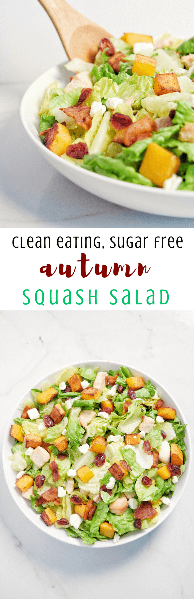 Clean Eating Autumn Squash Salad (Gluten Free, Grain Free) | Personally Paleo