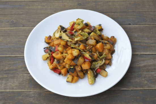 Rutabaga Sweet Potato Hash | A Dash of Megnut